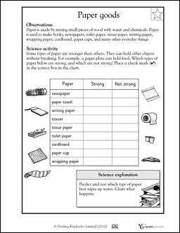 Science paper goods