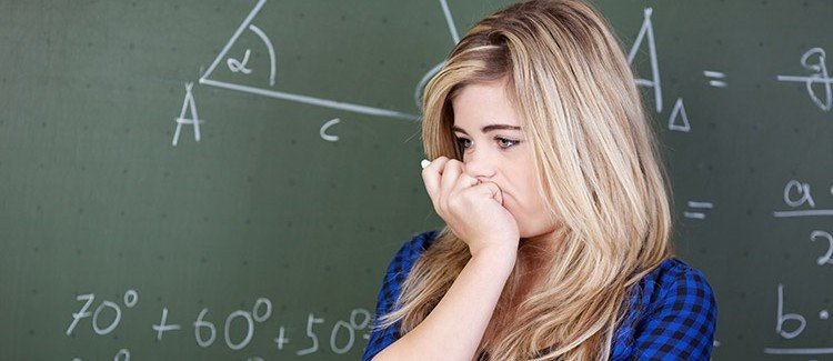 why our smartest students are failing math teenager doing math in high school classroom