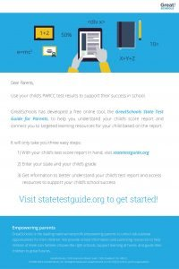 GreatSchools State Test Guide for Parents_Parent Email_PARCC