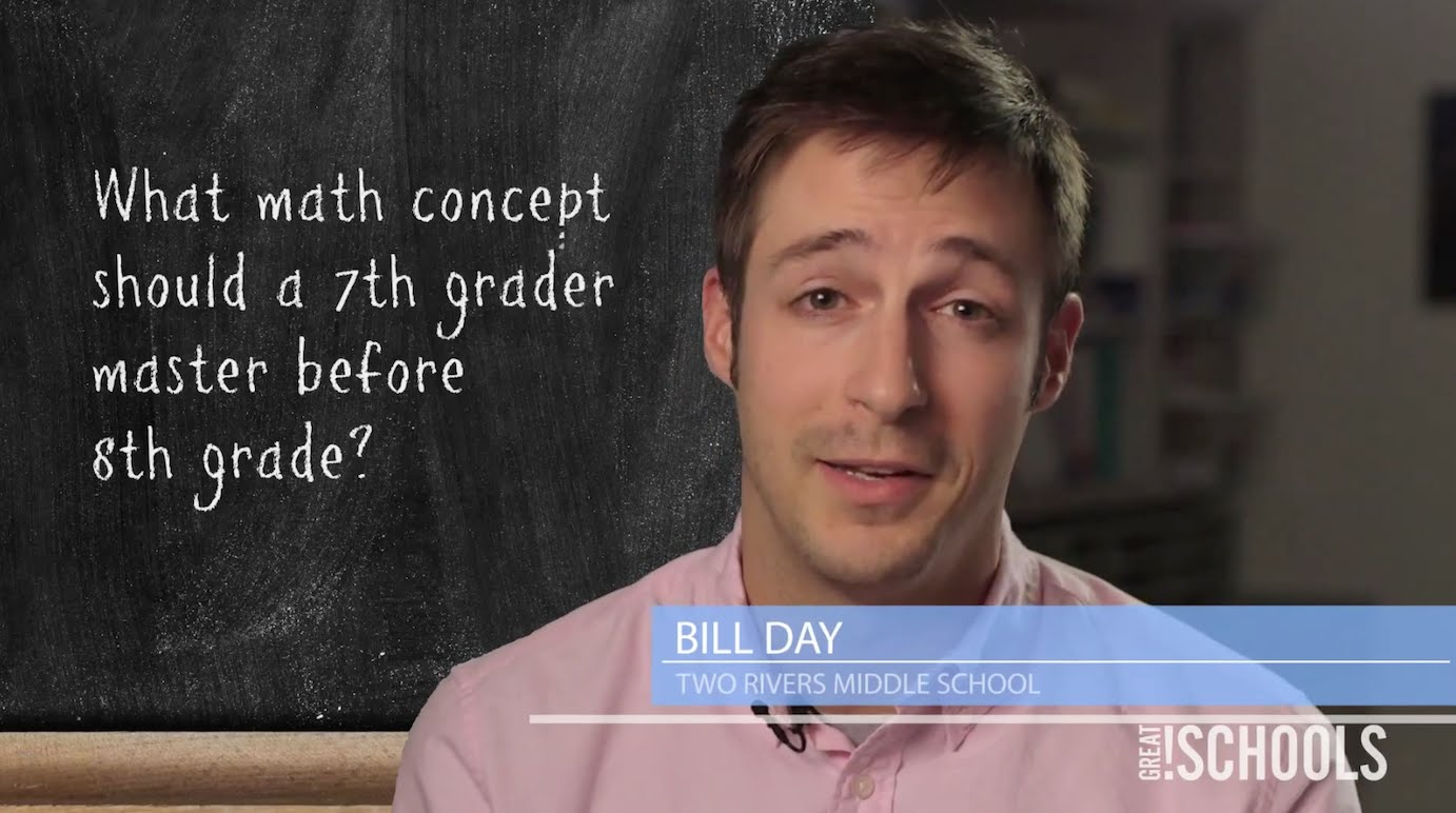 What math concept should a 7th grader master before 8th grade ...