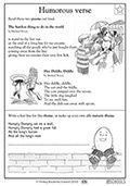 1st grade rhyming and poetry worksheets parenting. Black Bedroom Furniture Sets. Home Design Ideas