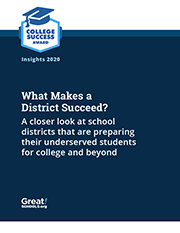 What Makes a District Succeed report cover