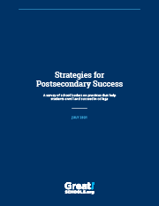 Strategies for Postsecondary Success report cover