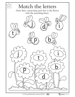 great reading worksheets: preK - Matching letters | GreatSchools