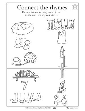 "5 great reading worksheets: preK - ""Reading"" pictures | GreatSchools"