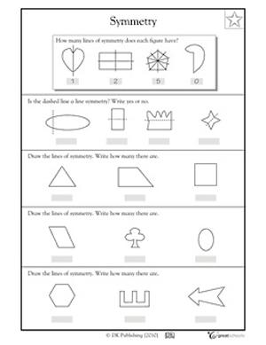 math worksheet : summer worksheets  lines of symmetry  greatschools : Kindergarten Symmetry Worksheets