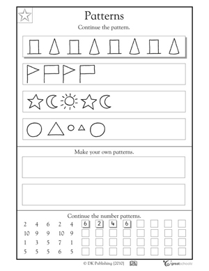 Free Worksheets » Pattern Worksheets For 4th Grade - Free Math ...