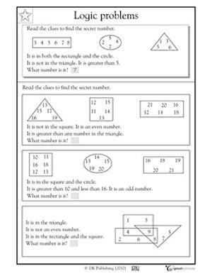 Printables Logic Worksheets math logic worksheets davezan problems for 2nd graders grade logical reasoning