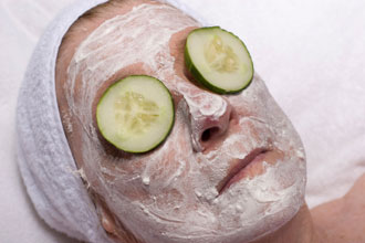 Cucumber facial treatment