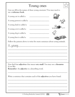 5 great reading worksheets: grade 3 - What are baby animals called ...