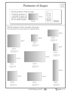 math worksheet : 3rd grade math worksheets slide show  worksheets and activities  : Perimeter Math Worksheets
