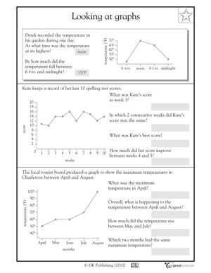 math worksheet : interpreting graphs worksheet middle school math  : Maths Graphs Worksheets