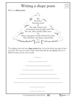 Types of writing genres - Shape poems | GreatSchools