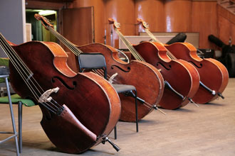 Row of basses