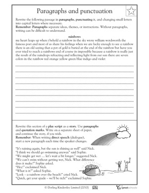 Types of writing genres - Punctuating a paragraph | GreatSchools