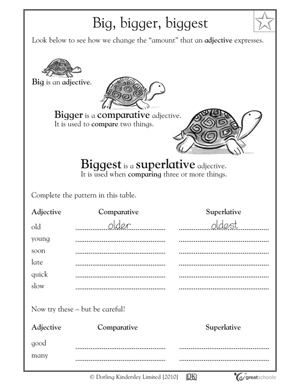 Worksheets Writing Worksheets 3rd Grade printable writing worksheets for grade 3 2nd 3rd reading 5 great big bigger biggest